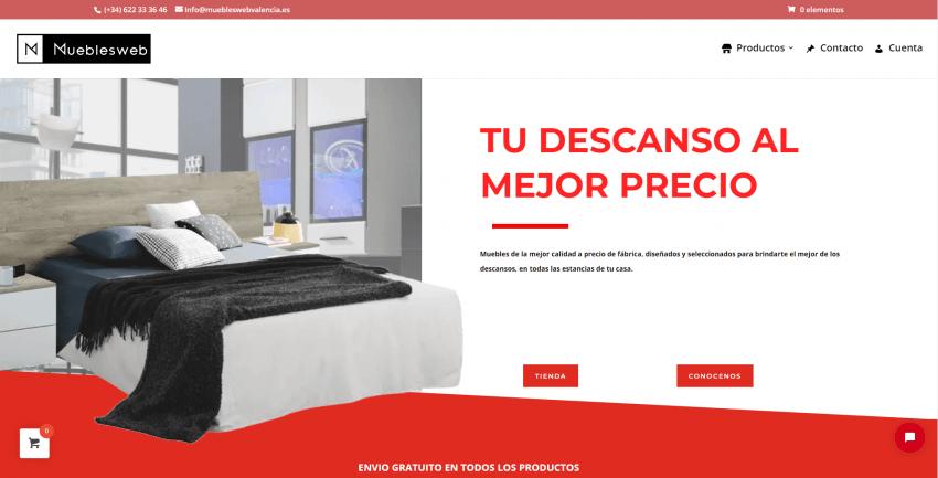 Muebles web-Diseño página web